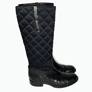 Ralph Lauren black quilted leather riding boot 7.5